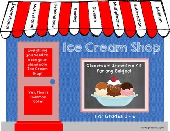 Ice Cream Sundae Shop - A Classroom Incentive Program