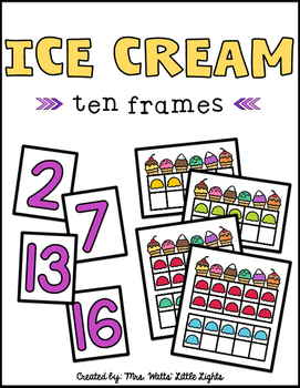 Ice Cream Ten Frames