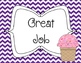 Ice Cream Theme Behavior Clip Chart {Freebie}