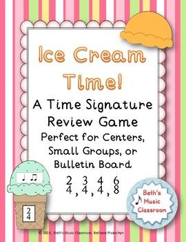 Ice Cream Time Signature Game - 2/4, 3/4, 4/4, 6/8, Bullet