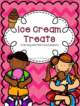 Ice Cream Treats: Literacy and Math Worksheets