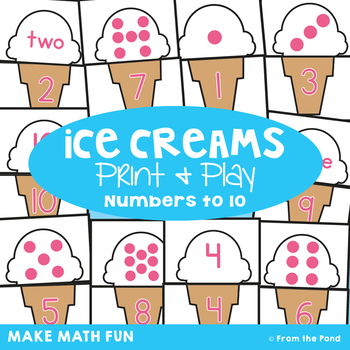 Ice Creams - Math Center Game for Early Number
