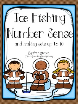 Ice Fishing Number Cards, Counting, and Making Sets to 10