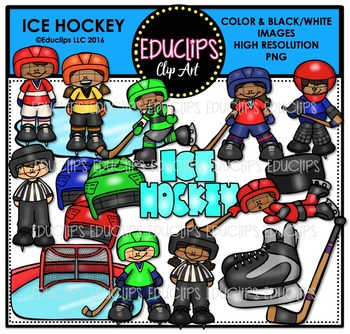 Ice Hockey Clip Art Bundle