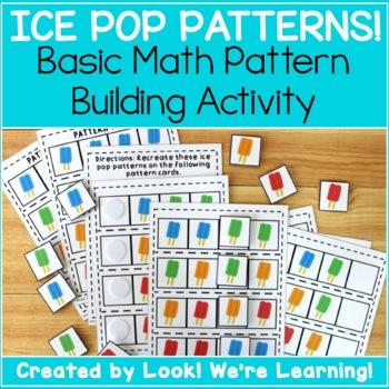 Ice Pop Math Patterns Pack