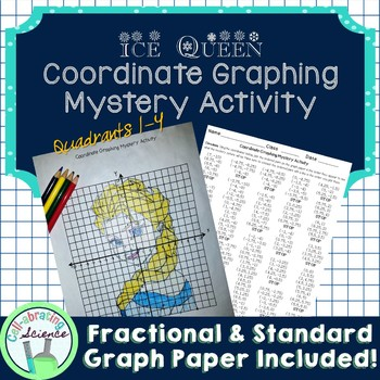 Ice Queen Coordinate Graphing Mystery Activity