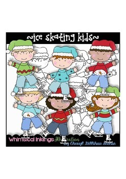 Ice Skating Kids Clipart Collection