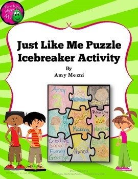 Icebreaker Activity: Just Like Me Puzzle - Common Traits A