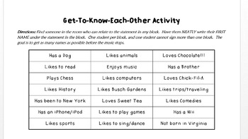 Icebreaker / Get-to-Know Each Other Activity...with a Twist!