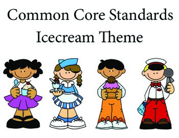 Icecream 2nd grade English Common core standards posters