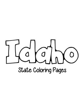 Idaho State Coloring Pages