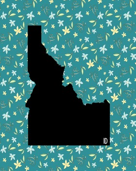 FREEBIE! Idaho Vintage State Map or Poster Class Decor, Cl