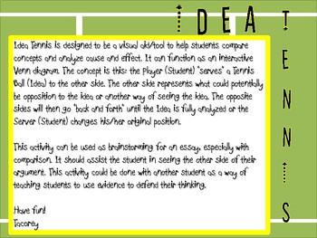 Idea Tennis - Writing Tool