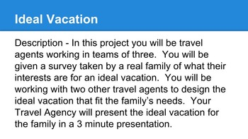 Using Geography to Plan a Vacation