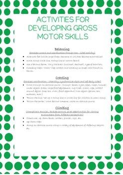 Gross Motor Skills Development