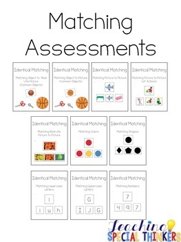 Identical Matching Assessments