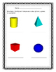Identify 3 D shapes