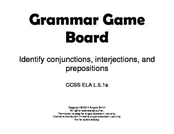 Identify Conjunctions, Interjections, and Prepositions Gam