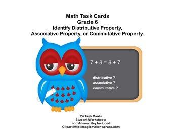 Identify Distributive or Associative or Commutative Proper