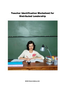 Identify Teacher Leaders-Worksheet for Coaches and Administrators