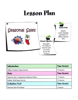 Identify Timing Of Seasonal Sales Lesson