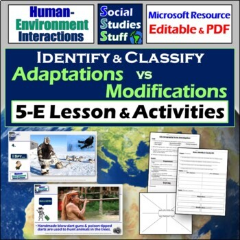Identify and Classify- Human Environment Interactions (ada