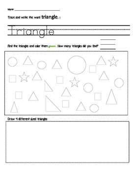 Identify and Name Triangles Activity