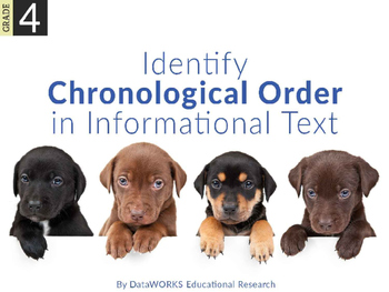 Identify chronological order in informational text
