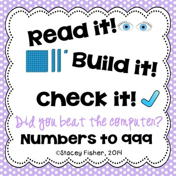 Identify or Build Numbers to 999-Represent Numbers in Stan