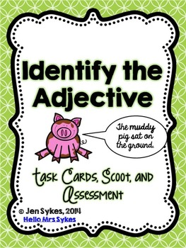 Adjective Task Cards, Scoot Game, and Quick Assessment Freebie