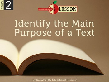 Identify the Main Purpose of a Text