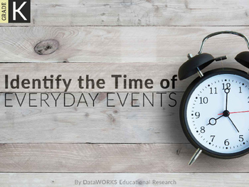 Identify the Time of Everyday Events