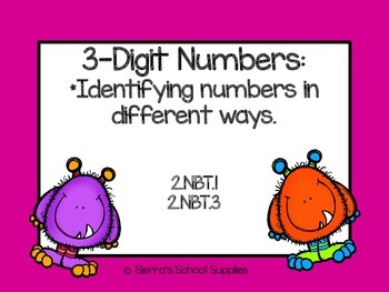 Identifying 3-Digit Numbers in Different Ways 2.NBT.1 and 2.NBT.3