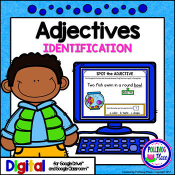 Identifying Adjectives Grammar Activity for Google Drive a