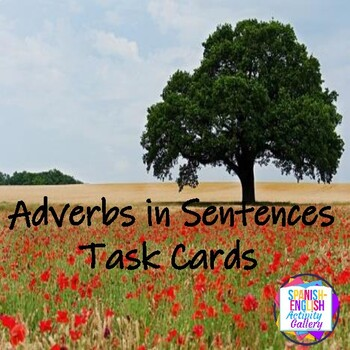 Adverbs in a Sentence Task Cards