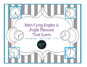 Identifying Angles & Angle Measurement Using Clock Faces