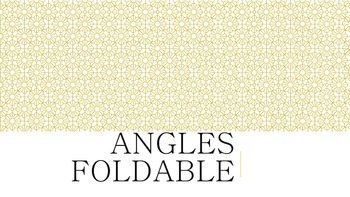 Identifying Angles Foldable