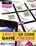 Identifying Angles Spring-Themed QR Code Math Center FREEBIE
