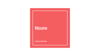 Identifying Common and Proper Nouns PowerPoint