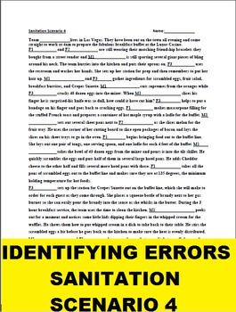Identifying Errors Sanitation Scenario 4: Las Vegas Breakf