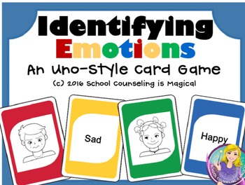 Identifying Feelings Uno-Style Card Game