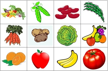 Identifying Foods and Meals Flash Cards + Vocabulary List