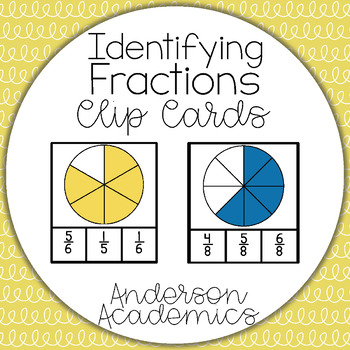 Identifying Fractions Clip Cards {3.NF.1}