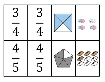 Identifying Fractions Flashcards