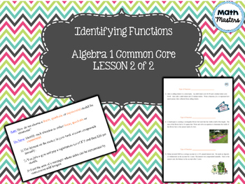 Identifying Functions Lesson 2 of 2
