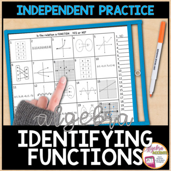 Identifying Functions Practice Worksheet