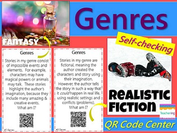 Identifying Genres Task Cards with QR Codes