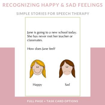 """Identifying """"Happy"""" and """"Sad"""" Feelings: Short Scenarios wi"""