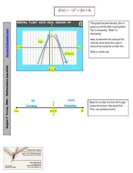Identifying Increasing and Decreasing Intervals - Quadrati
