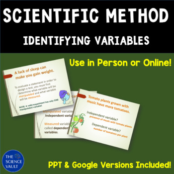 Scientific Method: Independent and Dependent Variables and
